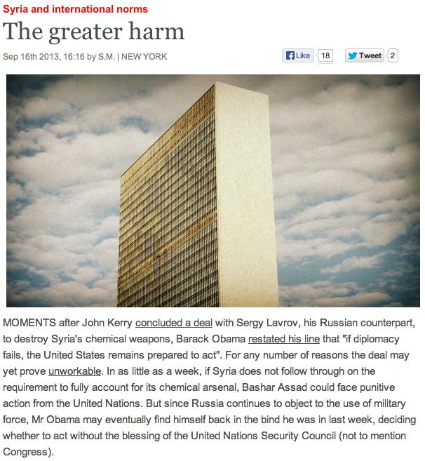 UN Impasse over Syria