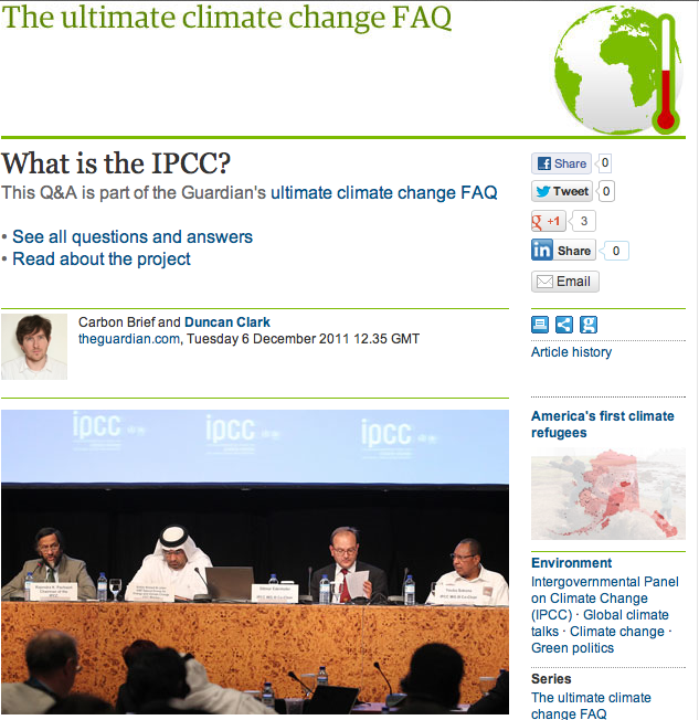 The IPCC Dissected