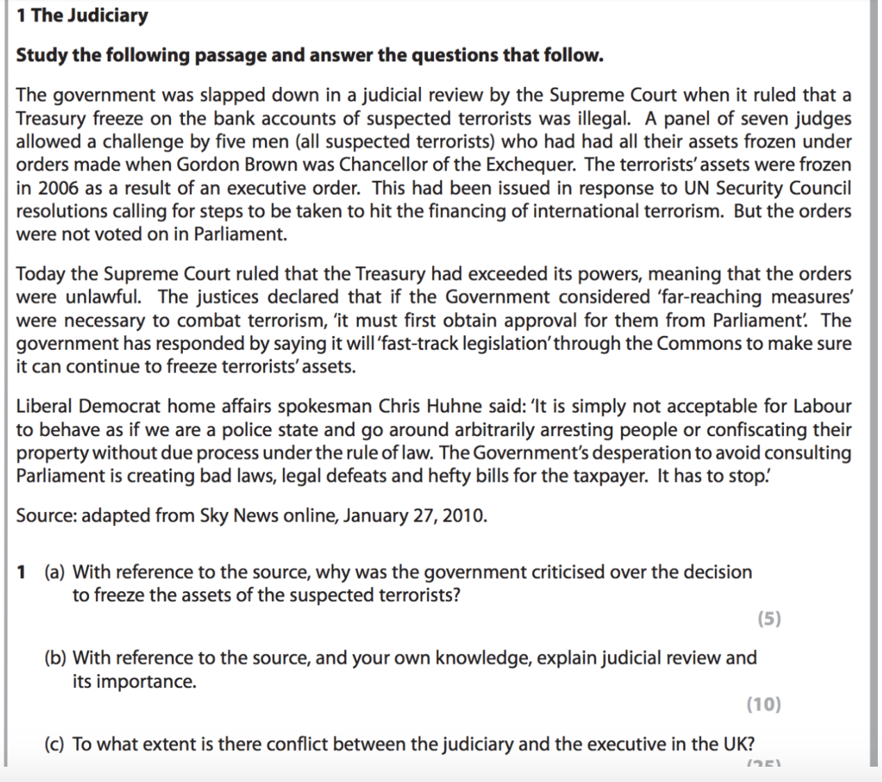 Government by judiciary essay